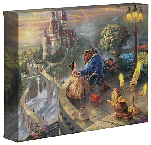 Beauty and the Beast Falling in Love 8 x 10 Gallery Wrapped Canvas