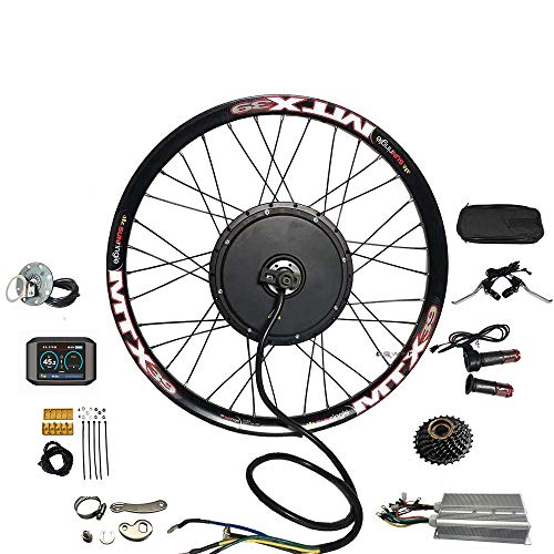 NBPOWER TFT 750C Sistema de visualización a color 3000w Kit de conversión de bicicleta eléctrica con controlador YF 18mosfet, volante de 7 velocidades y brazo de torsión (29 pulgadas)