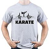 Karate Shirt Karate Fan Tshirt Karate Gift tee Karate Sport Camiseta para Hombre Gris XL