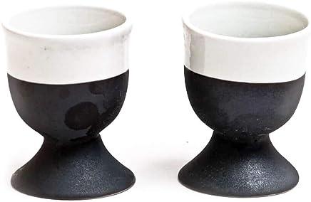 Preisvergleich für Broste Copenhagen Esrum 2 Eierbecher Set schwarz/creme skandinavisches Design nordisch Eierhalter Eierständer spülmaschinengeeignet Ostern Ostertisch Frühstücksei