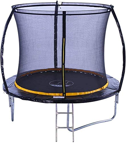 Kanga 8ft Premium Trampoline with Safety Enclosure, Net, Ladder and Anchor Kit (2021 Model)