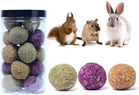 Rabbit Toys Bunny Chew Toys Grass Ball for Teeth Natural Pet Chew Toy Hand Made Timothy Hay product image