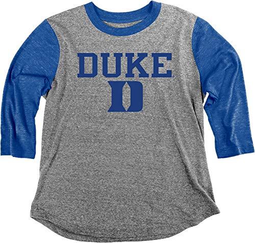 Elite Fan Shop Duke Blue Devils Womens 3/4th Sleeve Tshirt - Medium - Gray