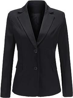 YYNUDA Women's Long Sleeve Casual Work Formal Suit Smart Jacket Blazer Elegant Slim Fit Coat