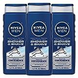 NIVEA Men Shower & Shave 3-in-1 Body Wash - Shower, Shampoo and Shave...
