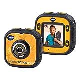 VTech- Kidizoom Action CAM Cámara de Fotos y Vídeos, Color Negro/Amarillo, 28.7 x 20.1 x...