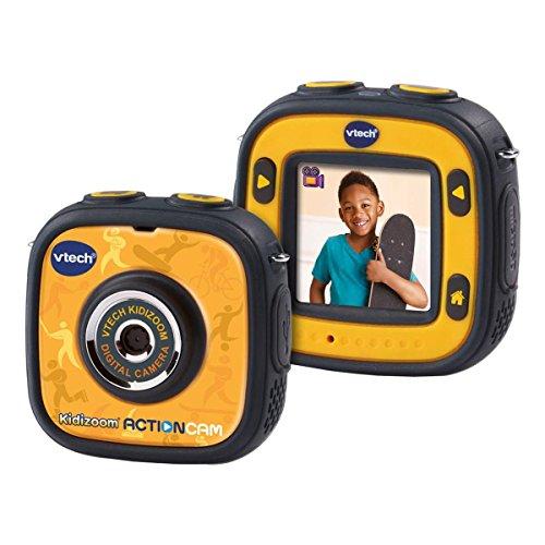 VTech- Kidizoom Action CAM Cámara de Fotos y Vídeos, Color Negro/Amarillo, 28.7 x 20.1 x 8.1 (3480-170722)