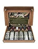 Viva Oliva Six 60 ML Gift Set - Premium Flavored Extra Virgin Olive Oils (Tuscan Herb, Basil, Mushroom & Sage) and All Natural Balsamic Vinegars (18 year traditional, Grapefruit, Black Mission Fig)