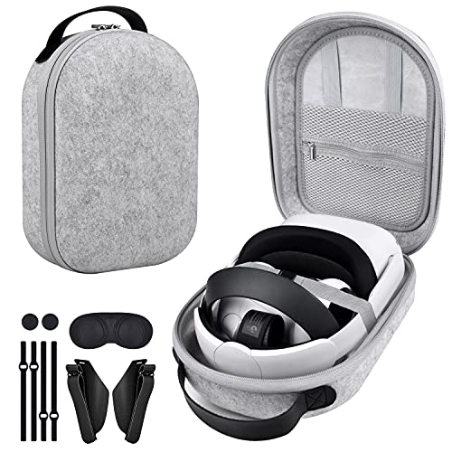 Oculus Quest 2 Case SIMPLY + Carrying Case for Oculus Quest 2/Elite Version VR Gaming Headset/Touch Controllers Accessories, Lightweight Travel Case for Quest 2, Anti-Scratch, Hard Case-Gray