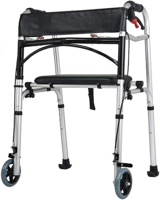 WEIJINGRIHUA Portable Folding Travel Walker, Adult Trigger Relea