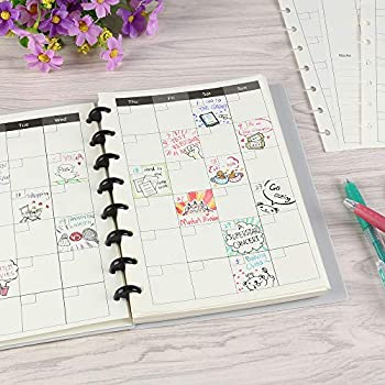 Eagle Discbound Refill Paper Inner Core Planner Refills Paper for Junior Size Discbound Notebooks Arc Notebooks 8-Hole Punched 30 Sheets 8.5 x5.5   Monthly Planner