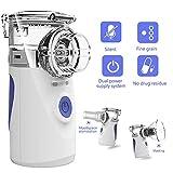 Potable Mini Vaporizers Machine Cool Mist Inhaler, Handheld Steam Compressor Humidifier Ultrasonic Nebulizer