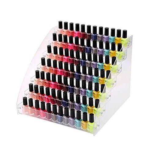 Neckip Großer 2-7 Etagen Acryl Nagellack Ständer für bis zu 84 Nagellack - Kosmetik Display -...