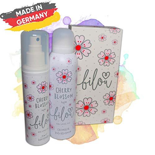 Neu Bilou Cherry Blossom Set - Cremiger Duschschaum 200 ml & Bodyspray 150 ml - Perfekt als Geschenkbox …
