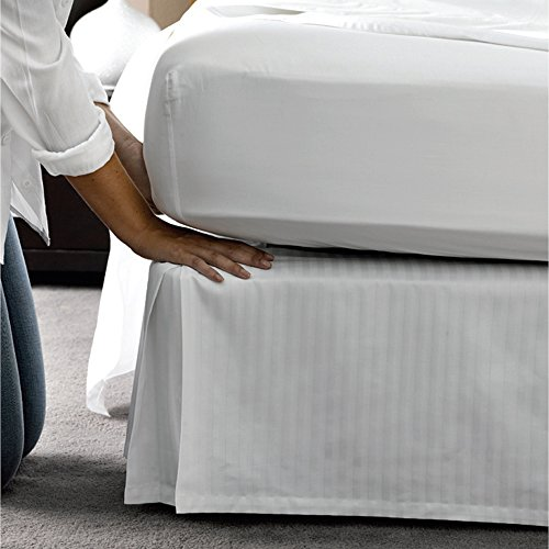 Learn More About Patrician 1C76947 78-Inch x 80-Inch x 15-Inch Bed Skirt with White Stripe, King, 12...