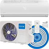 hOmelabs Split Type Inverter Air Conditioner – 12,000 BTU 115V – Low Noise, Multimode Air Conditioning with a Washable Filter, Stealth LED Display, and Backlit Remote Control