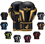 2020 Pro Boxing Gloves for Men & Women, Boxing Training Gloves, Kickboxing Gloves, Sparring Gloves, Heavy Bag Gloves for Boxing, Kickboxing, Muay Thai, MMA (Golden 10 Oz)
