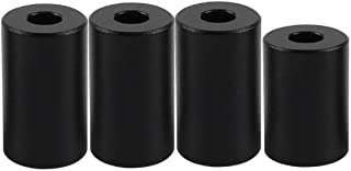 FYSETC 3D Printer Heatbed Silicone Leveling Column Solid Bed Mounts OD 0.98 in ID 0.16 in Stable Hotbed Tool Heat-Resistant Silicone Buffer for CR10 MAX Bottom Connect Black 4 Pcs