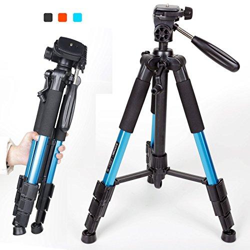 Zomei trípode profesional portátil Monopod para cámaras DSLR DV Videocámaras, Q111-Blue, not carbon fiber tripod