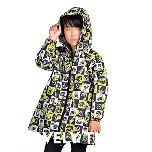 Z-Brand regenjas Boy Print regenjas lange jas waterdichte regenjas boy regenjas jas jas windjas lente en zomer (grootte: 68.5 * 39 * 38.5cm)