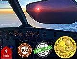 Kinder Fluff Sunshade (4X)-The only Certified Sunshades Blocking 99.79 % of UVA & 99.95% UVB-120 GSM Sun Shades & 15S Static Film (Mom's Choice Gold Awards Winner) Aircraft,Truck,SUV,car Window Shade