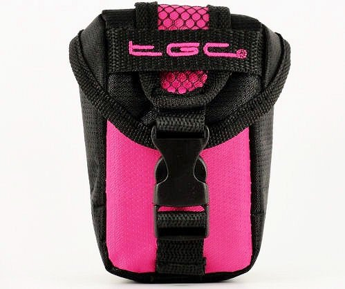 TGC Hot Roze & Zwart Camera Case voor Compacte Sealife DC1400 DC1200 Camera's met Riem Loop + Foam Padding