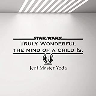 Quotes Vinyl Wall Art Decals Saying Words Removable Lettering Star Wars Wall Decal Kids Child's Bedroom Sticker Movie Sign Jedi Master Yoda Quotes Wall Stickers House Wall Ornament