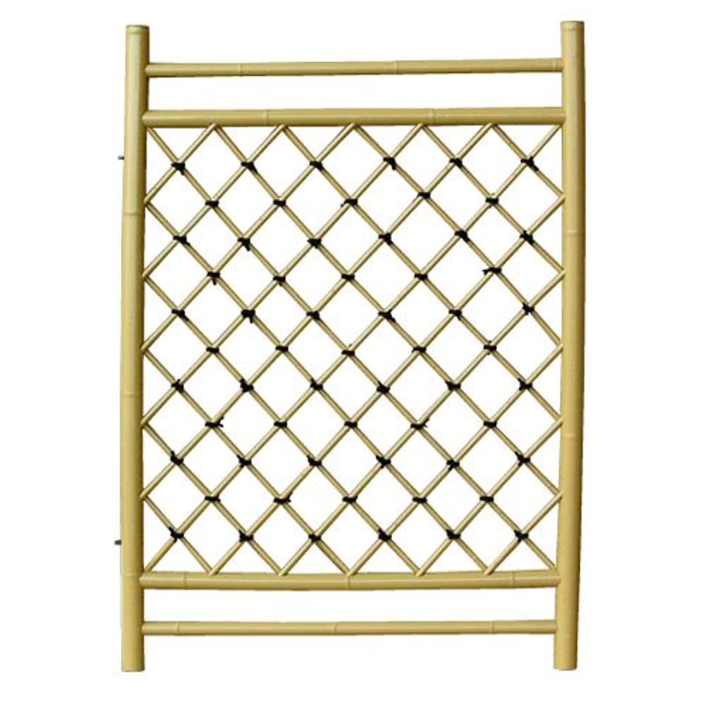 反映するこだわり回転人工竹垣 プラスチック枝折戸 W70×H105cm