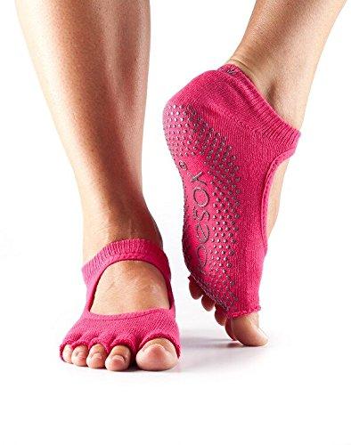 Toe Sox Damen 1 Paar ToeSox Yogasocken, 5-Zehen-Design, vorne offen: Freiheit für die Zehen