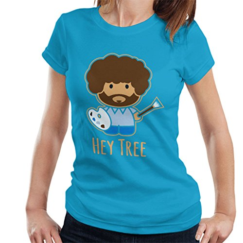 Cloud City 7 Bob Ross schilderij Hey Tree vrouwen T-shirt