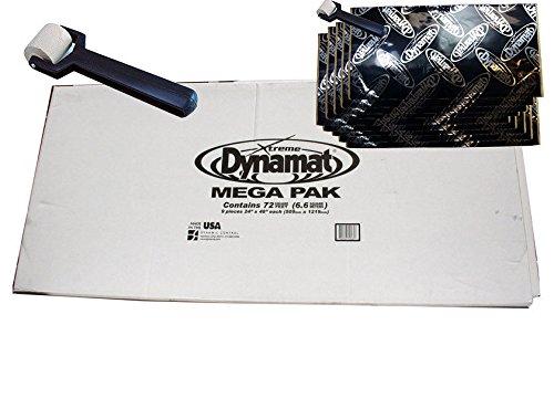 Dynamat Xtreme Mega Pack 10465 Sound Deadener Dampening + Sheets + Free Roller