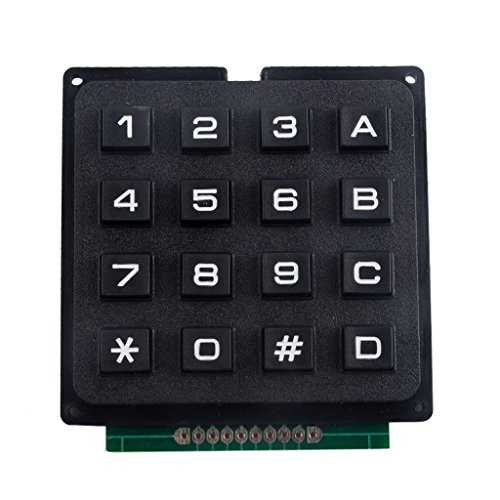Gazechimp 4 x 4 Matrix Array 16 Keys Switch Keypad Keyboard Module for Arduino
