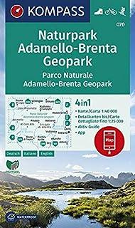 Carta escursionistica n. 070. Parco Naturale Adamello, Brenta 1:40.000. Ediz. italiana, tedesca e inglese: Wandelkaart 1:40 000 (CARTE DE RANDONNEE - 1/40.000)
