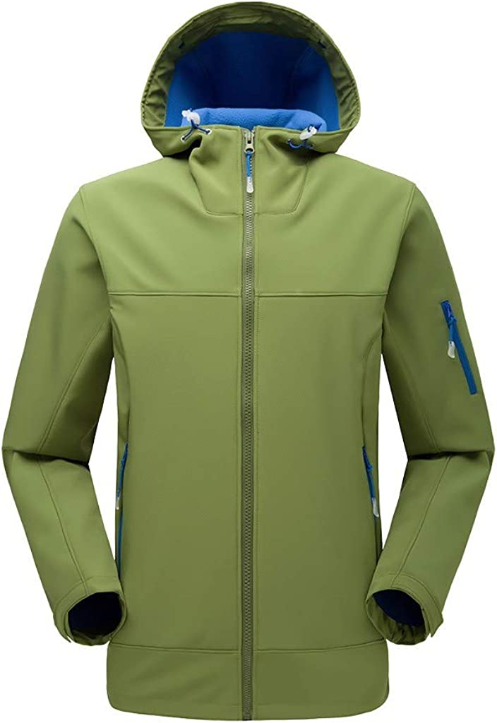iLXHD Men Winter Hooded Softshell Windproof Waterproof Soft Coat Shell Jacket C255
