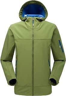 Men Windbreaker,Men's Mountain Snow Waterproof Ski Jacket Detachable Hood Windproof Fleece Parka Rain Jackt Winter Coat