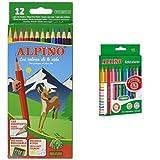 Alpino - Pack 12 lápices de colores + 12 rotuladores de colores