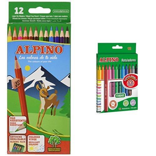 Alpino - Pack 12 lápices de colores + 12 rotuladores de colores 🔥