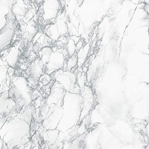 WH Dekorative Selbstklebende Folie, Grauer Marmor