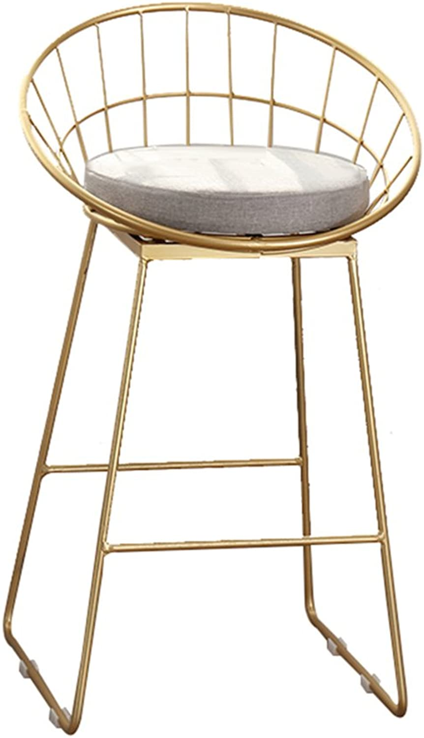 Chair - Fashion Personality Home high Stool bar Chair (color   gold, Size   44  42  95cm)