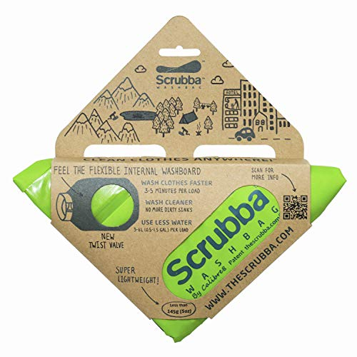 Scrubba Unisex's Wash Bag 2.0, Green, Regular Size