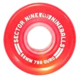 Sector 9 Nineballs Skateboard Wheels 58MM 78A Red
