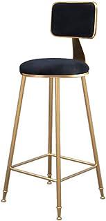 ZBYY Taburetes De Bar Cocina con Respaldo Sillas De Comedor Modernas para Cocina Bar MAX.200kg,SeatHeight75cm