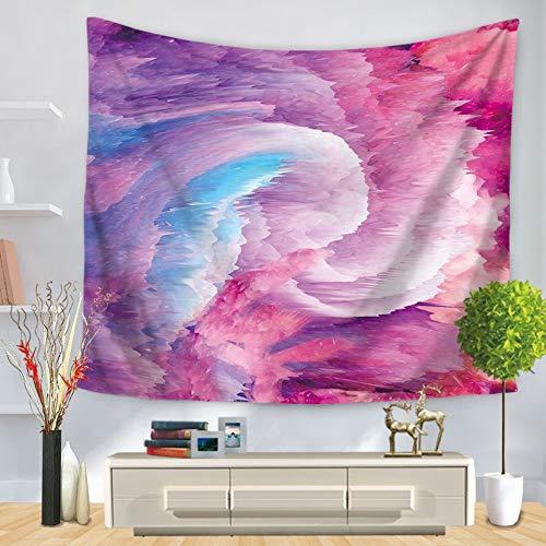 Tapestry wandhanger, kleurrijke swirl, blauw en paars ijs, Indiase Bohemen, hippie Psychedelic etnisch groot rechthoekig materiaal modern abstract kunst huis muur decoratie voor woonkamer en slaapkamer 150x200 cm