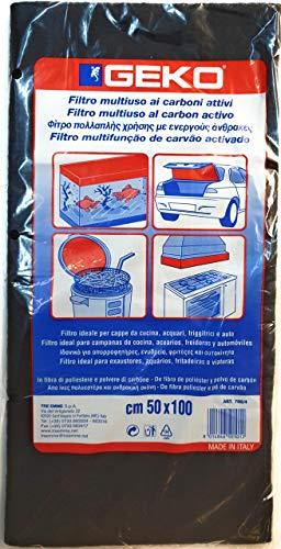 Filtro Per Cappe Aspiranti A Carboni Attivi, In Fibra Di Poliestere E Polvere Di Carboni.