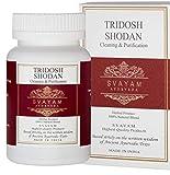 Ayurveda SVAYAM - Tridosh Shodan - 60 Cápsulas Vegetales - 100% Triphala Calidad Premium - 500 mg - Cápsulas Detox y para Limpieza Intestinal - Auténtico Triphala Ayurveda para el Sistema Digestivo