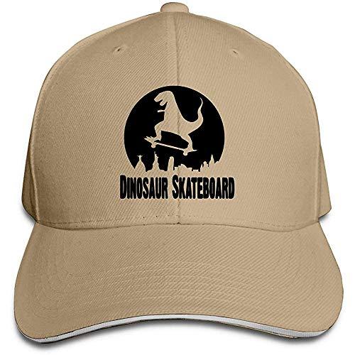 Dale Hill Unisex Baseballmütze Dinosaurier Skateboard Baumwolle Trucker Hut Verstellbare Vintage Sport- und Outdoor-Kappen