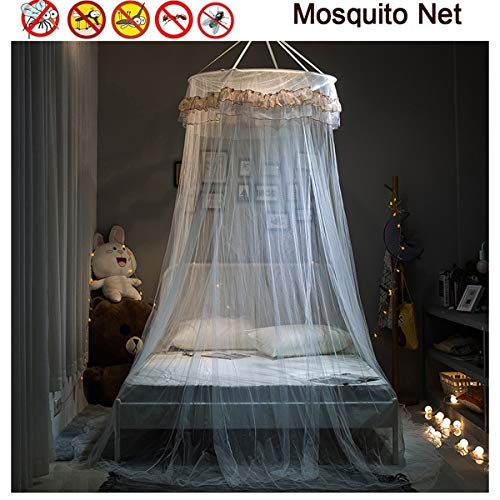 JZH-Light Muggen Bed Net Ronde Kant Koepel Netting Gordijnen Eenvoudige Installatie Insect Scherm Zorg ervoor luchtstroom Pop Up Tent Gordijnen voor Indoor Outdoor Vakantie Reizen 100% Polyester