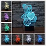 Seulement 1 pièce 1 pièce nouveauté 3D bois humeur lampe ampoule lumière crâne Micro USB lampe de Table veilleuse pour enfants veilleuses