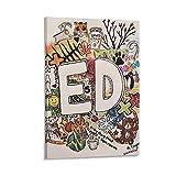 JDQS Sänger Ed Sheeran 13 Poster, dekoratives Gemälde,