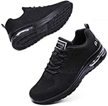 Maichal Womens Running Shoes Tennis Sneakers Air Cushion Arch Support Memory Foam Slip Resistant Work Shoes Lightweight Mesh Breathable Gym Athletic Sports All Black 6.5